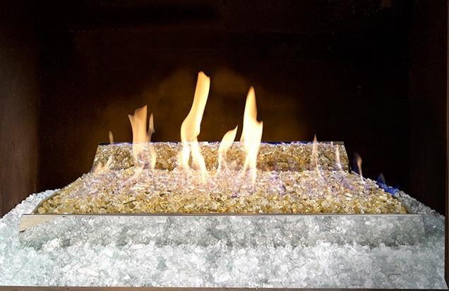 Vent Free Fire Glass Burner Set