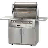 Alfresco ALXE 36-in grill on a stainless steel cart