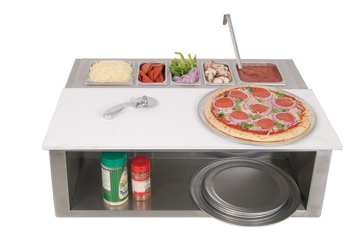 Alfresco Pizza Prep and Garnish Rail