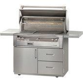 "Alfresco ALXE 42"" Grill on Freestanding Deluxe Cart"