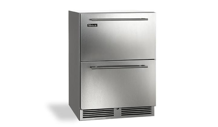 "Perlick 24"" C Series Refrigerator Drawers - PR-HC24RO-3-5"