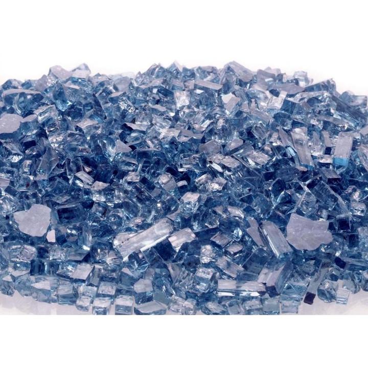 blue fire glass