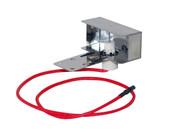 Burner mounted spark collector box