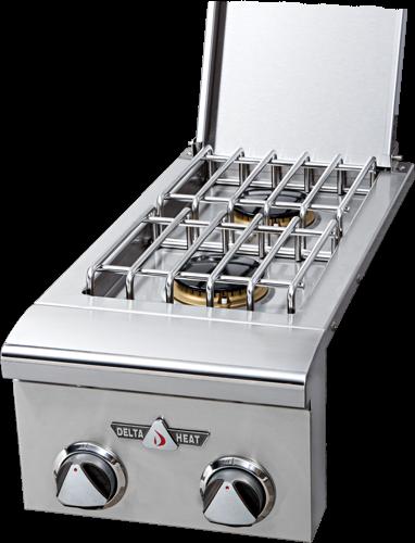 delta heat built-in side burner