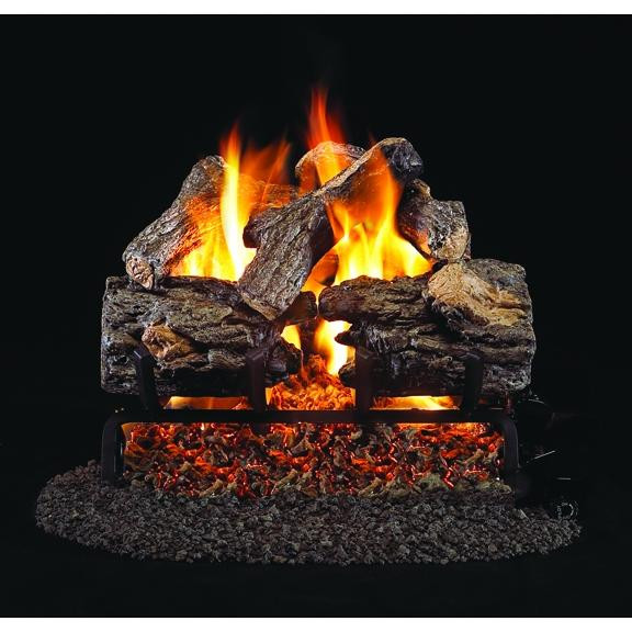 Burnt Rustic Oak Gas Log Set