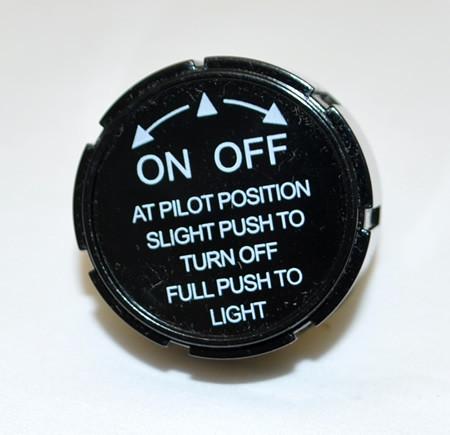 Black knob for fire-pit valves