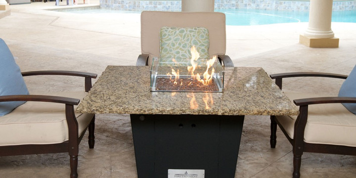 """Madrid 48"""" Square Fire Pit Grilling Table"""