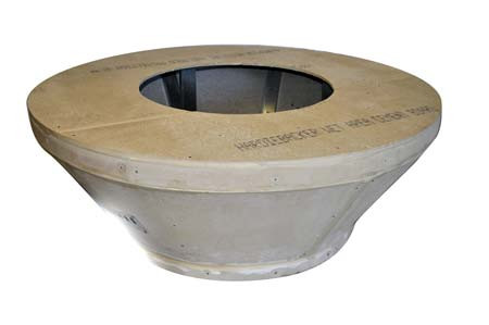 """54"""" Round Top Tapered Unfinished Fire Pit Enclosure"""
