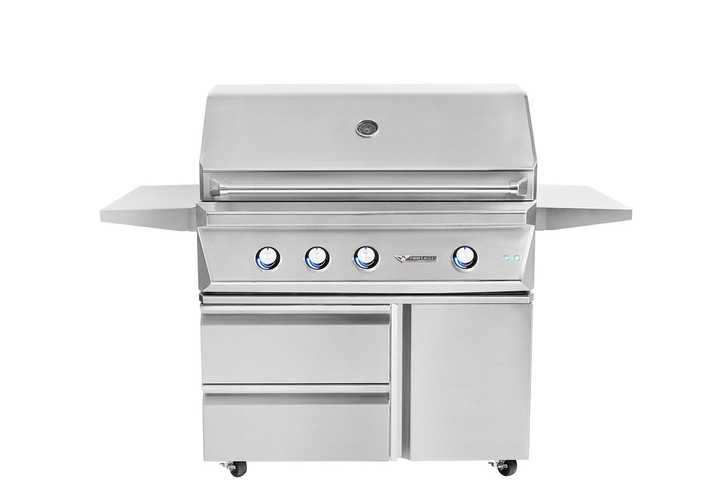 """Twin Eagles 42"""" Grill, Rotisserie, on Freestanding Base"""