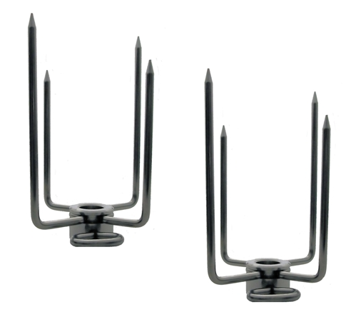 """Stainless Steel Rotisserie Forks 5/8"""" for Hexagon Spit Rods"""