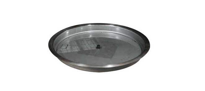 """25"""" Stainless Steel Round Fire Pit Bowl Pan"""