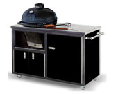 "Challenger 48"" Black with Silver Vein Primo JR Grill Cart"