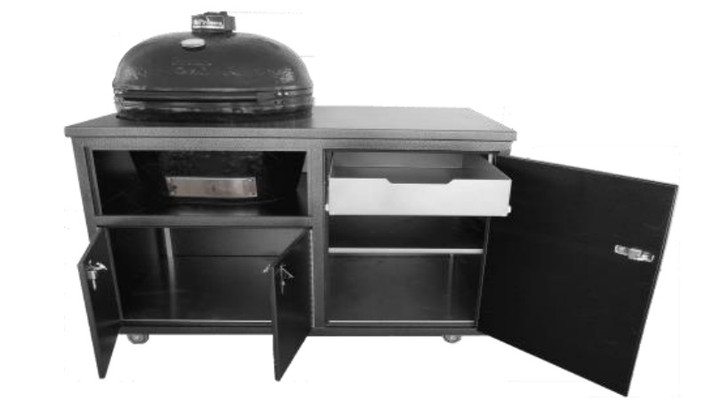 """Challenger 54"""" Large Ceramic Grill Cart for Primo XL"""