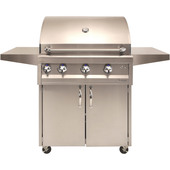 "Artisan 32"" 3 Burner Grill with Rotisserie, Light & Cart"