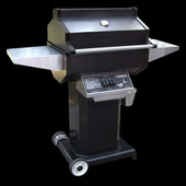 Phoenix Black Propane Gas Grill On Aluminum Cart