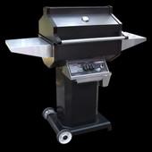 Phoenix Black Propane Gas Grill On Aluminum Cart