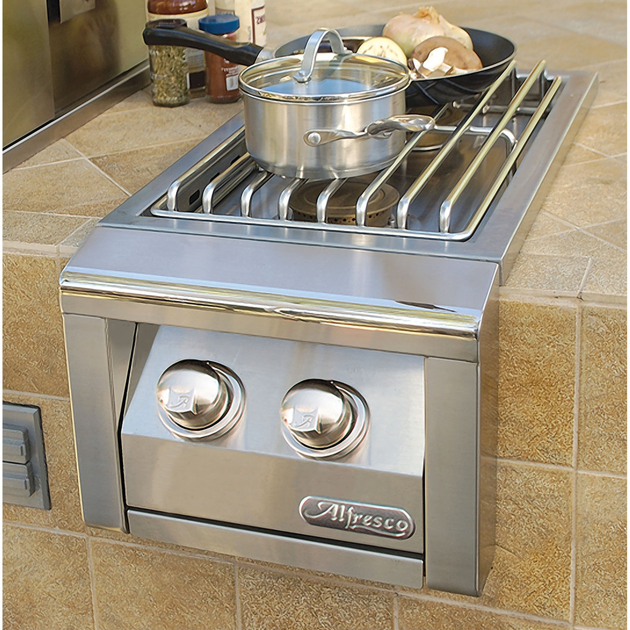 Alfresco AXESB-2 Built-in Dual Side Burner