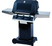 WHRG4DD Hybrid Propane Grill W/ SearMagic Grids On Black Cart