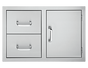 DELSOL Delta 33″ Built-in Door 2-Drawer Combo