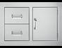 DELSOL Delta 33″ Built-in Door 2-Drawer Combo