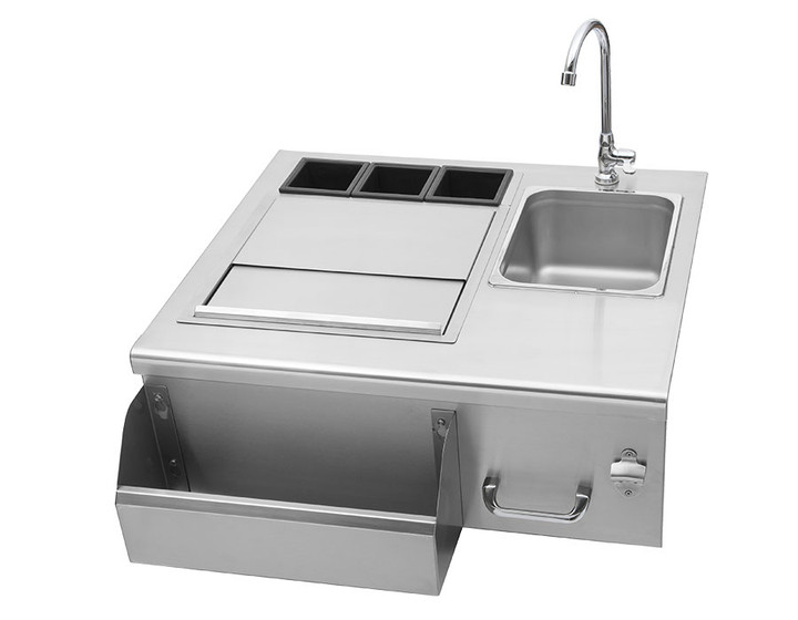 DELSOL Delta 30″ Outdoor Bar with Sink