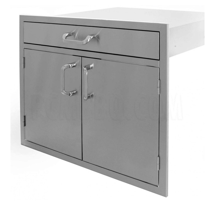 """30"""" Double Doors with Utility Drawer on Top"""