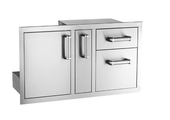 Fire Magic Access Door with Platter Storage & Double Drawer