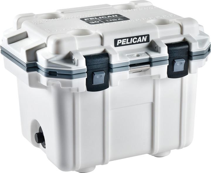 Pelican White/Grey 30QT Elite Cooler