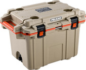 Pelican Tan/Orange 30QT Elite Cooler