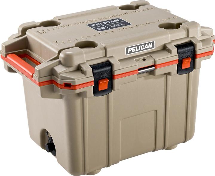 Pelican Tan/Orange 30QT Elite Cooler