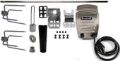 """Universal Complete Grill Rotisserie Kit - 45"""" x 1/2"""" w/ Electric Motor"""