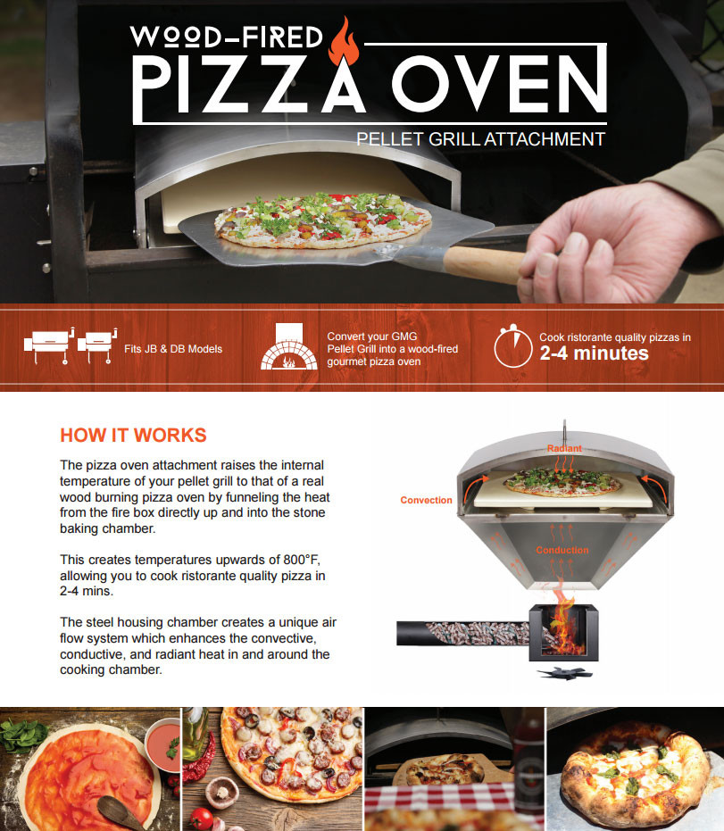 Green Mountain Grills Pizza Oven Attachment for Daniel Boone & Jim Bowie