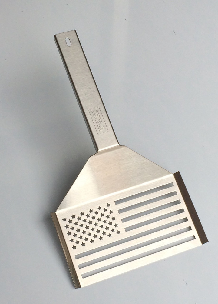 Tec Infrared All American Flag Stainless Steel Spatula