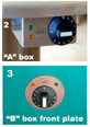 "Cook N Dine CONTROL BOX ""A"" for open mount + outdoors & CONTROL BOX ""B"" for concealed mounting"