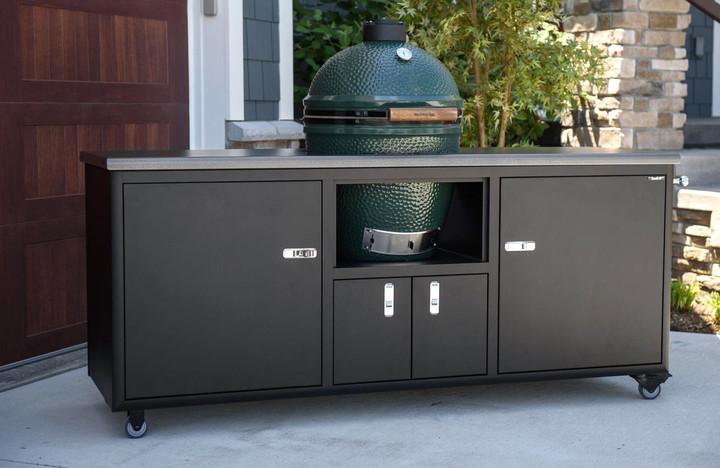 """Challenger Designs 76"""" Torch Ceramic Cart - Silver Vein/Textured Black"""
