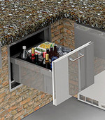 "Alfresco 26"" Undercounter Insulated Ice Drawer and Beverage Center - AXE-ID"