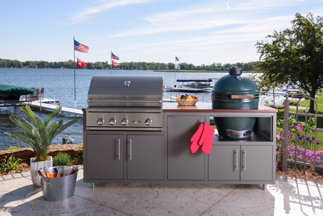 "Delta Heat Challenger Coastal 82"" Outdoor Kitchen Package with Large Egg Base"