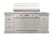 "TEC 44"" Sterling Patio Grill on Island"