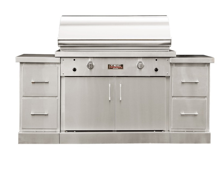 """TEC 44"""" Sterling Patio Grill on Island"""