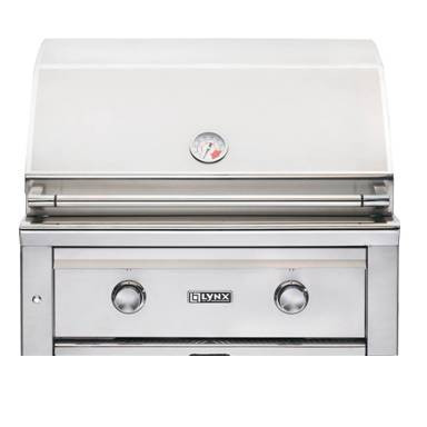 """Lynx Sedona 30"""" Built-in Grill w Two Stainless Burners, no Rotisserie"""