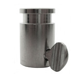 "Stainless Steel Rotisserie Spit Rod Bushing - 1/2"" Hexagon, 3/8"" Square"