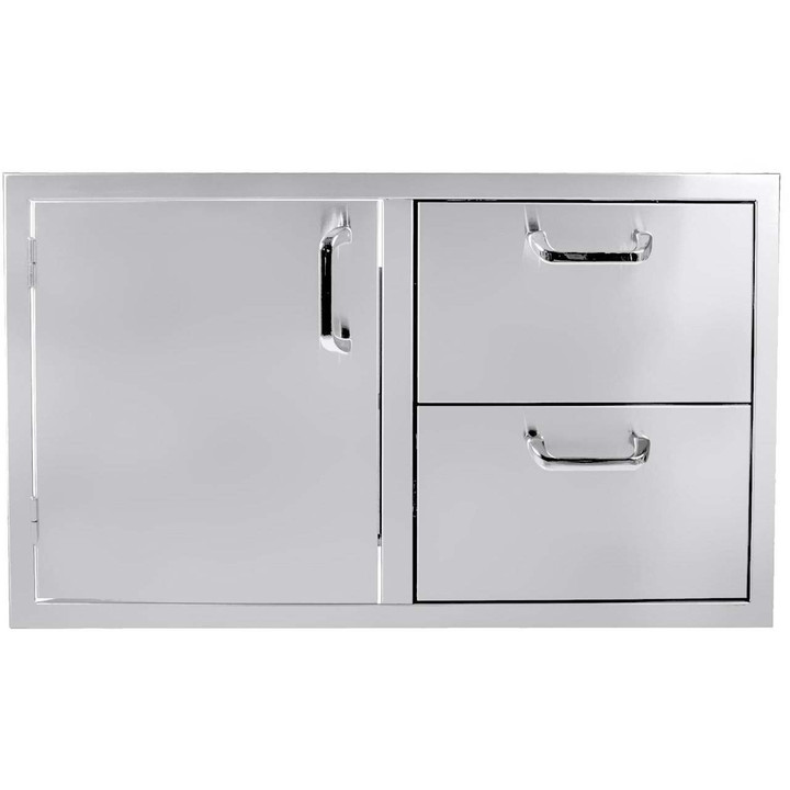 "36"" Single Door - 2 Drawer Combo"