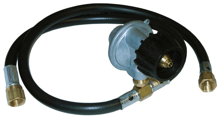 """LP regulator with 30"""" and 14"""" hoses for Grills with side burners"""