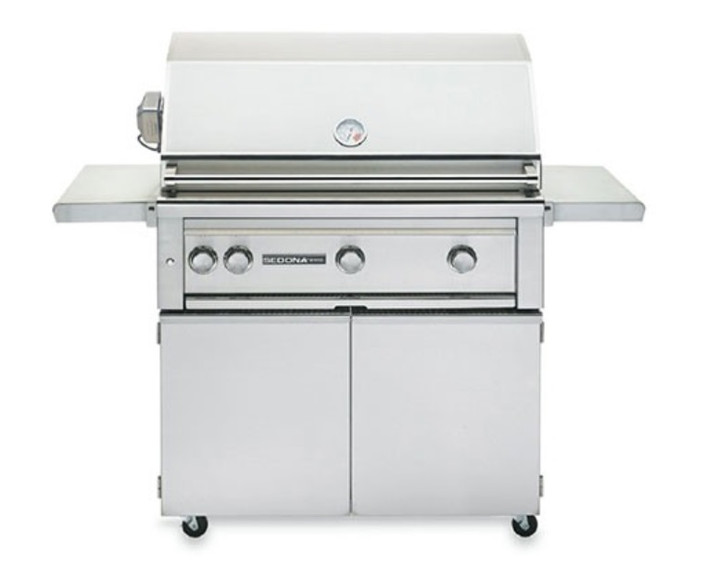 """Sedona by Lynx L600 36"""" Grill on Cart with Rotisserie"""