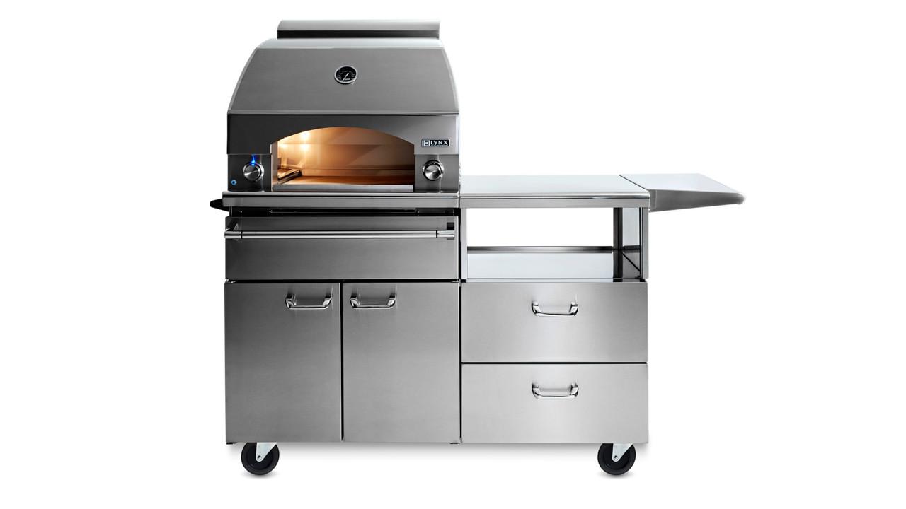 Lynx Napoli Outdoor Pizza Oven On Mobile Kitchen Cart Lpzaf