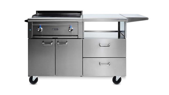 Lynx Asado on Mobile Kitchen Cart