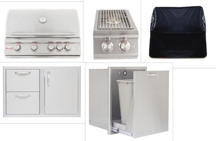 Blaze BLZ-4LTE 4 Burner Built-in Appliance Package