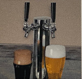Twin Eagles Twin Tap Built-in Beer Keg Dispenser - TEBK242-F