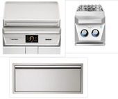 win Eagles TEPG36 Pellet Grill Appliance Package with Double Side Burner