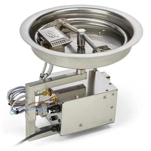 """HPC 13"""" Drop In Stainless Steel Round Fire Pit Insert"""